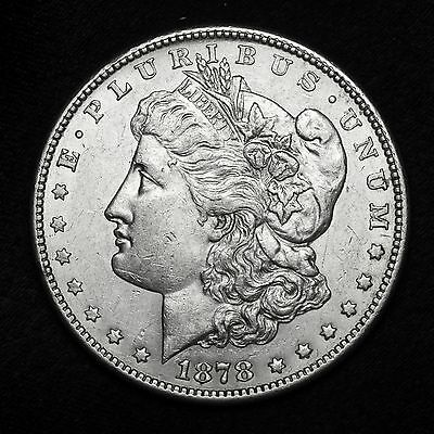 1878 S ~**ABOUT UNCIRCULATED AU**~ Silver Morgan Dollar Rare US Old Coin! #A80