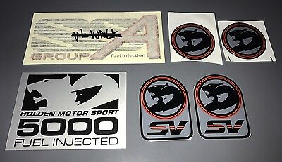Genuine HOLDEN HSV VL Walkinshaw Decal Kit Includes all 6 Decals NEW NOS