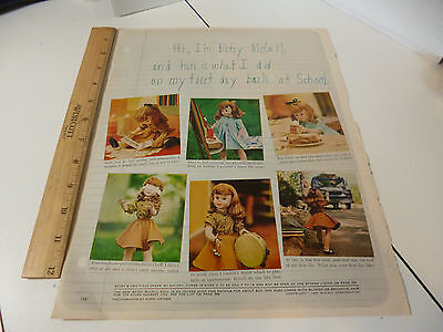 Vintage 1961 Prizer Ware Ad & Betsy McCall Doll First Day at School Original