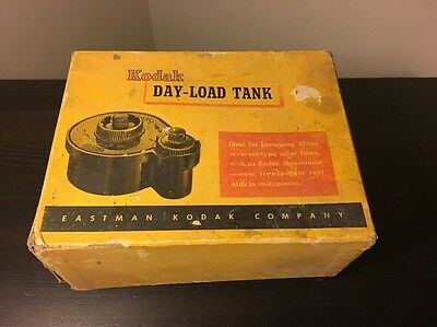 Kodak Day-Load Tank. Film Developing Tank 35mm. With Box and Instructions.
