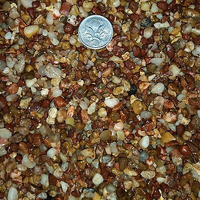 Fish tank aquarium terrarium NATURAL RED gravel pebbles 9.5kg FAST POSTAGE