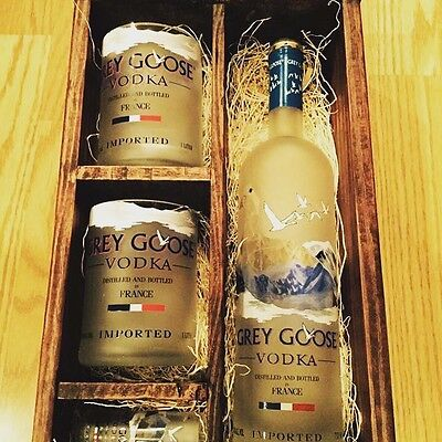 Grey Goose Up-Cycled Glasses & Gift Box - Full Bottle Not Included