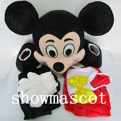 Hot  Mickey Mouse Adult Mascot Costume Party Clothing Fancy Dress Suit a23475678