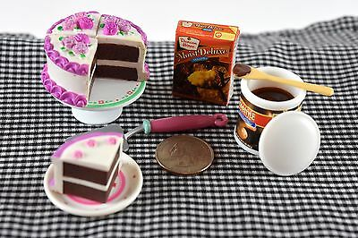 Kitchen Littles Cake Sweets LOT Miniature Food Dollhouse Accessories 1/6 Scale