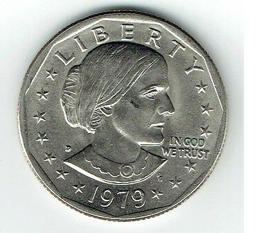 "1979 D Susan B Anthony Dollar US Mint Coin in ""About Uncirculated"" Condition SBA"
