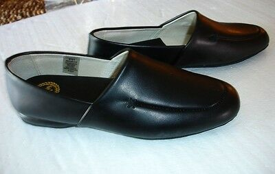 NWB L.B. EVANS Mens 2751 Black Leather Slip On Loafers Slippers Shoes Sz 7.5 M