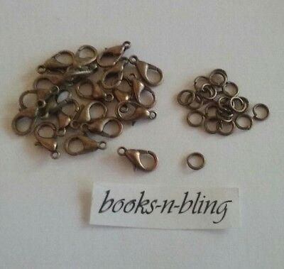 Bulk Pack Findings 50x Bronze Lobster Parrot Clasp with 50x Jump Rings