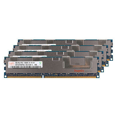 Hynix 4x4GB PC3-10600R DDR3-1333M​hz 240Pin 2Rx4 ECC Registered REG Server Memor
