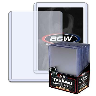100 3x4 BCW 1.5 mm 59 pt. Topload holders -Sport/Trading/Gaming Cards Toploaders