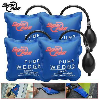 4x PDR Air Pump Wedge Up Inflatable Bag Shim Cushioned Powerful Hand Tools Set