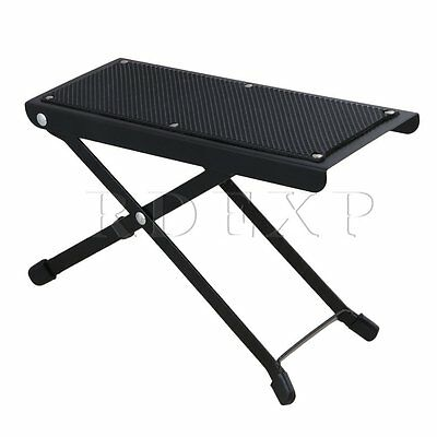 Anti-Slip 25.5x10.5cm Board Guitar Foot Rest Stool 6-Position Adjustable