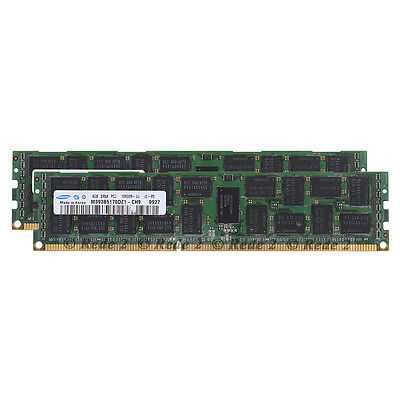Samsung 8GB 2x4GB PC3-10600R DDR3 1333 Mhz 240Pin ECC REG Registered Memory RDIM