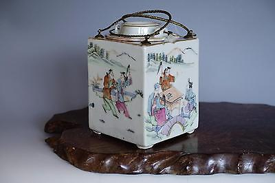 Fine Rare Chinese Qing Dynasty Porcelain Famille Rose Wine Warmer Pot SUPERB