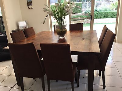 Wood Dining Table With 8 Chairs