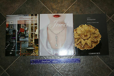 Christie's Auction House Catalog Lot New York Jewels London Antiquities Lot of 3