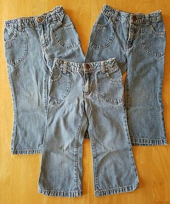 Toddler Girls Clothes, Lot of 3 Pairs of Jeans, Size 2T, Cherokee brand