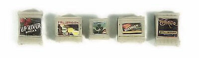 HO Scale Custom Deluxe Crates Food & Fruit (Tan) 5 Pce - Layout Ready - 714