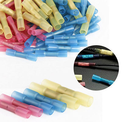 50pcs Mixed Heat Shrink Butt Electrical Wire Cable Crimp Terminal Connector