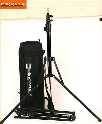 Elinchrom Set of Two Studio Stands & Case Approx Min 50cm 215cm Max Free UK Post