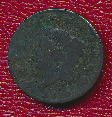 1819 Coronet Head Large Cent **rich Brown Color** Great Type Coin!
