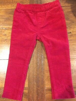 BEBE By Minihaha Red Fine Cord Pants/Jeans - Size 2