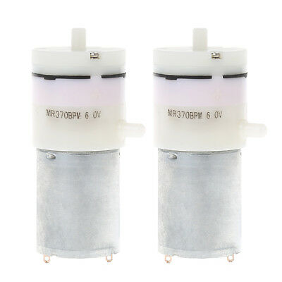 2Pcs DC 3V-6V 5V 370 Motor Micro Mini Air Pump Vacuum For Aquarium Tank Oxygen