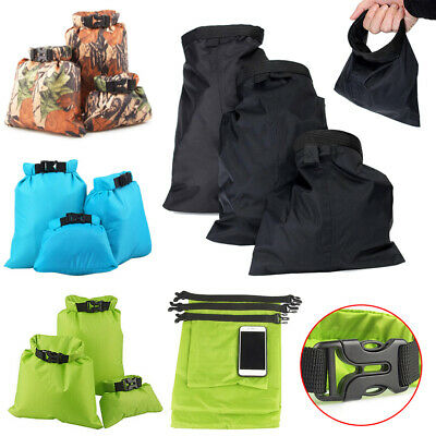 Waterproof Dry Bag Canoe Kayak Swim Sail Floating Camp Storage Sack 1.5-3.5L Set