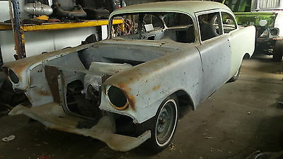 Chev 56 two door project LS1 motor turbo 700 gearbox 10 bolt diff tubed body .