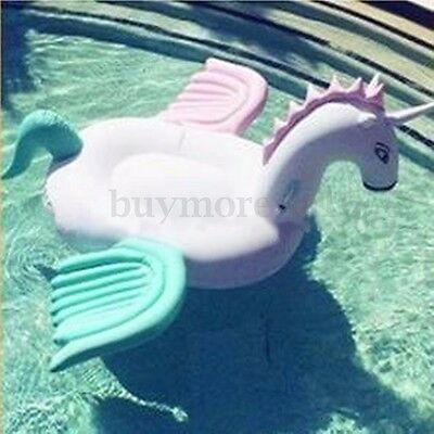 Unicorn Floating Inflatable Pegasus Swimming Pool Beach Waterbed Party Toy Pink