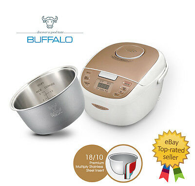BUFFALO New Enco 5-cups Rice Cooker (Stainless Steel Insert)