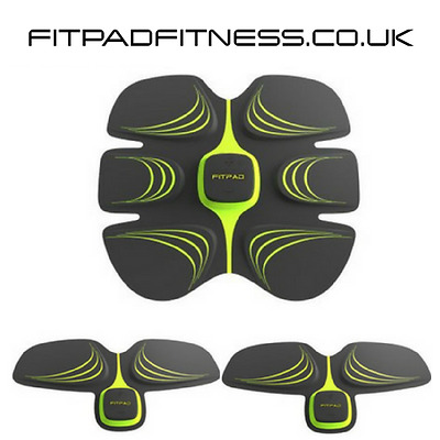 ABS Sixpad Training Gear Fit Flex Toning Belt Workout Muscle Fitpad ✔FULL SET✔