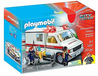 Playmobil 5681 City Action Rescue Ambulance With Lights & Sounds  *new In Box*