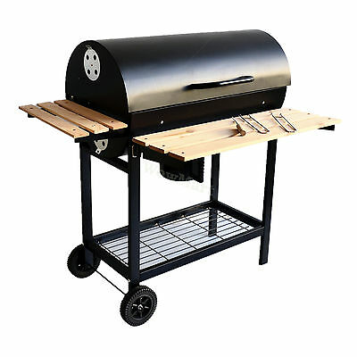 New Large Charcoal BBQ Grill Stove + Hood - (#2040) 110*72cm