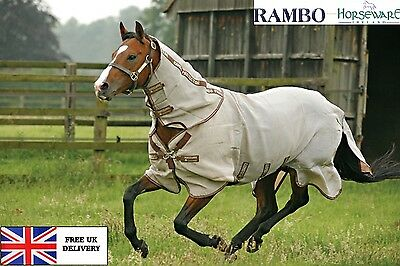 SALE Horseware Rambo Protector Fly Rug  With Fix On Neck