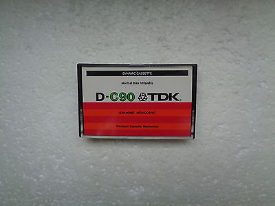Vintage Audio Cassette TDK D-C90 From 1979 - Excellent Condition !