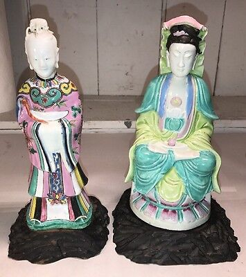 2 Early Antique Chinese Porcelain Figures