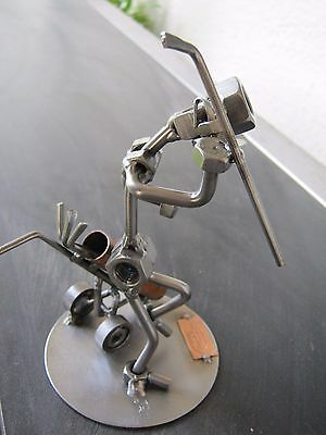 """Hinz & Kunst sculpture """"The Frustrated  Golfer"""" with copper plaque"""