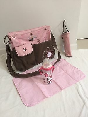 Lot Sac À Langer Rose Et Biberon Hello Kitty
