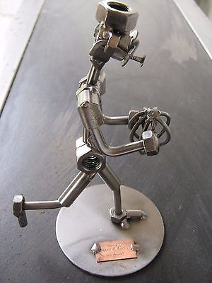 """Hinz & Kunst sculpture """"The AFL/Rugby player """" with copper plaque"""
