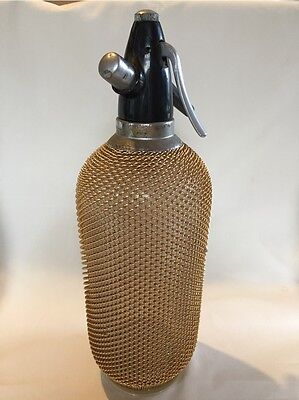 Vintage Soda Syphon - glass with metal mesh