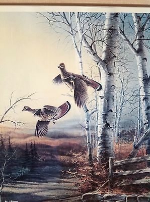 "Strict Limited Edition Rare Terry Redlin Signed Numbered Print "" Breaking Cover"""