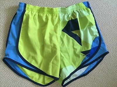 Women's Nike Neon Green and Blue Dri-Fit Athletic Shorts, size XS