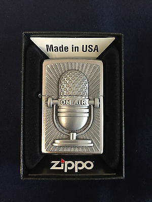 ZIPPO Lighter / Feuerzeug, Modell: Microphone Retro, Made in USA