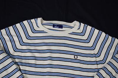 XL Vintage Fred Perry Striped Jumper
