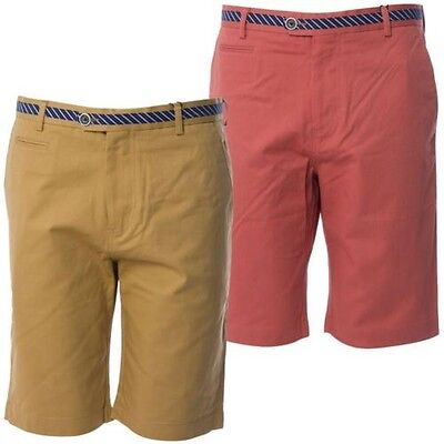 Gabicci Vintage Mens Tailored Smart Chino Style Bottoms Shorts Sizes 32 - 38