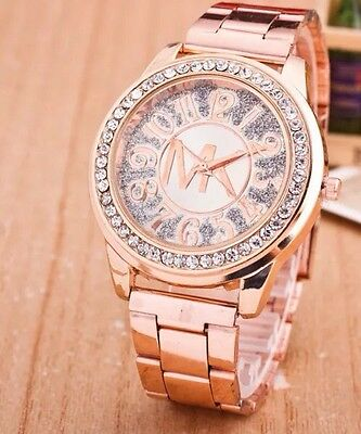 Women's Ladies Watch Costume Jewellery Rose Gold Stainless Steel