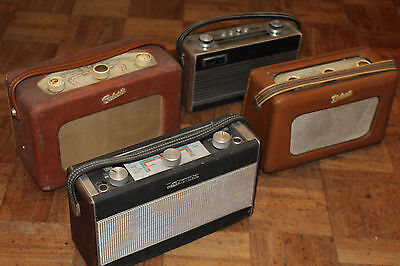 4X Vintage Roberts Radio Retro old classic job lot working