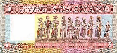 Swaziland  1 Lilangeni  ND. 1974  P 1a  Series H  Uncirculated Banknote AF0517jK