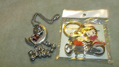 12221 Betty Boop Necklace And Key Chain