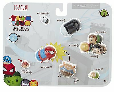 Marvel Tsum Tsum Spider-Man vs The Sinister 6 includes 9 figures Series 2 *New*